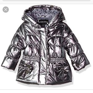 NWT Rothschild metallic puffer jacket w/bows